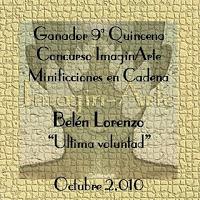 Microrrelato ganador en ImaginArte Minificciones en Cadena