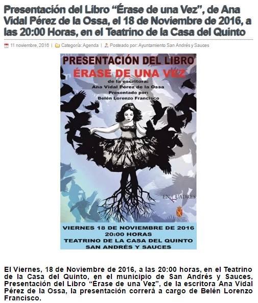 http://sanandresysauces.es/agenda/presentacion-del-libro-erase-una-vez-ana-vidal-perez-la-ossa-18-noviembre-2016-las-2000-horas-teatrino-la-casa-del-quinto